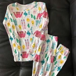 Snug fit two piece cotton pajama set